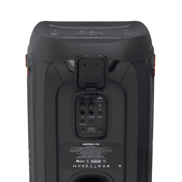 JBL Partybox 310 - Black - Portable party speaker with dazzling lights and powerful JBL Pro Sound - Detailshot 3