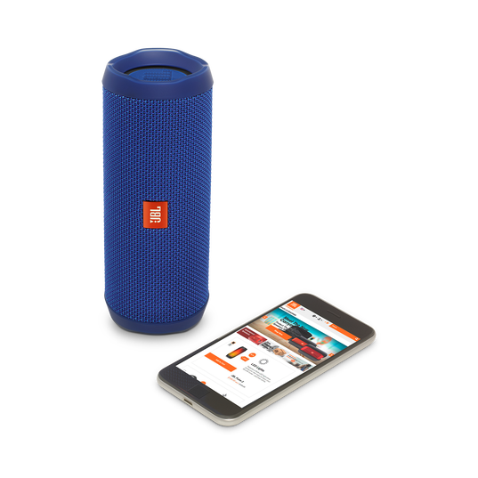 JBL Flip 4 - Blue - A full-featured waterproof portable Bluetooth speaker with surprisingly powerful sound. - Detailshot 2