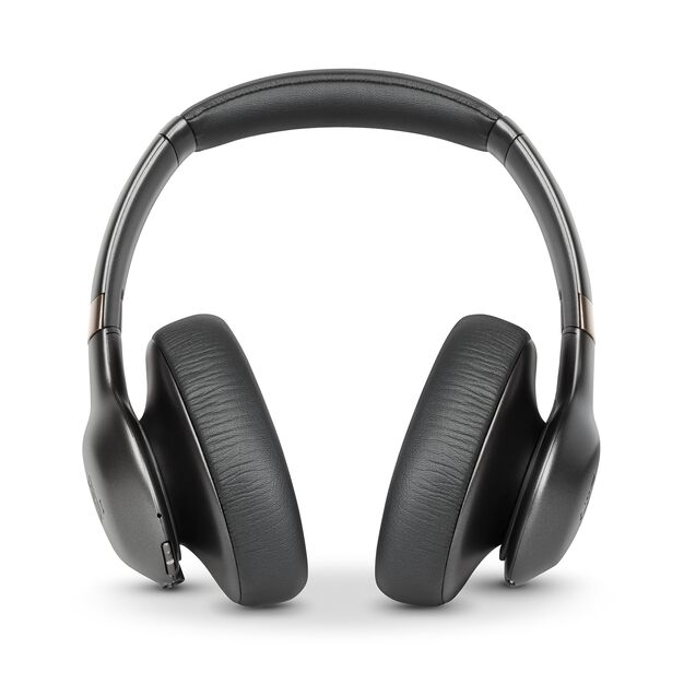 JBL EVEREST™ ELITE 750NC - Gun Metal - Wireless Over-Ear Adaptive Noise Cancelling headphones - Front